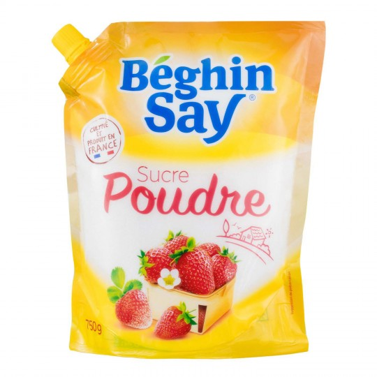 Sucre blanc en poudre, Beghin Say (Doypack 750 g)