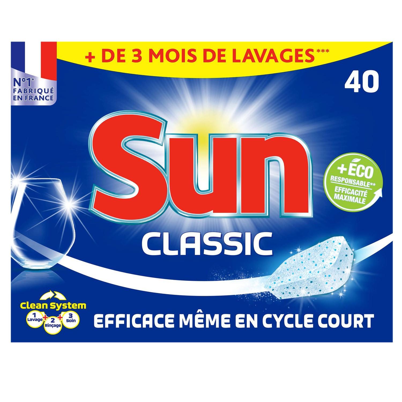Tablettes pour lave-vaisselle classic Tout en 1, Sun (26 doses)