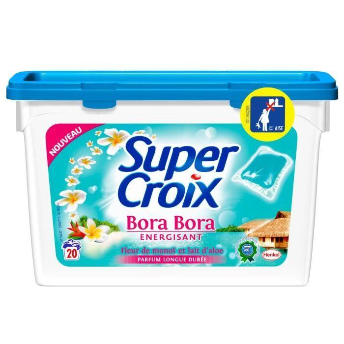 Lessive capsule Bora Bora énergisant, Super Croix (19 capsules)