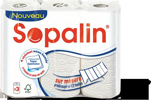 Essuie-tout sur mesure, Sopalin (x 3)