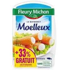 Bâtonnets de surimi Le Moelleux +33%, Fleury Michon (x 26)