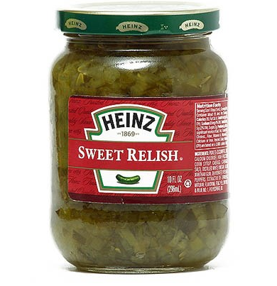 Sweet Relish Pot en verre, Heinz (296 g)