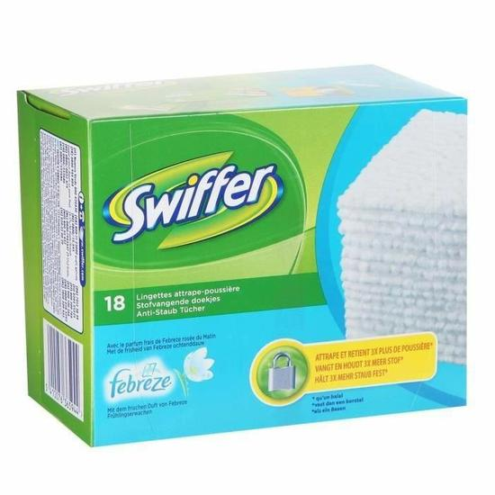 Lingettes Dry Swiffer, Swiffer & Febreze (x 18)