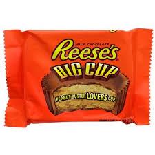 Bonbon au chocolat fourré au beurre de cacahuètes, Reese's Big Cup (40 g)