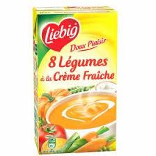 Soupe de 8 légumes à la crème fraîche Doux Plaisir, Liebig (1 L)