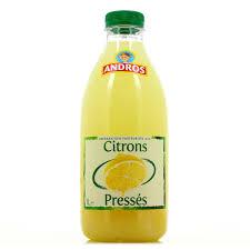 Jus de citrons pressés frais, Andros (1 L)