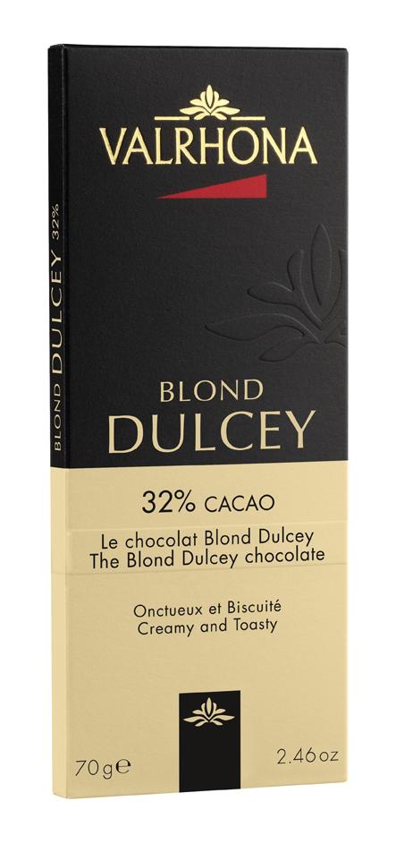 Tablette de chocolat blond Dulcey 32%, Valrhona (70 g)