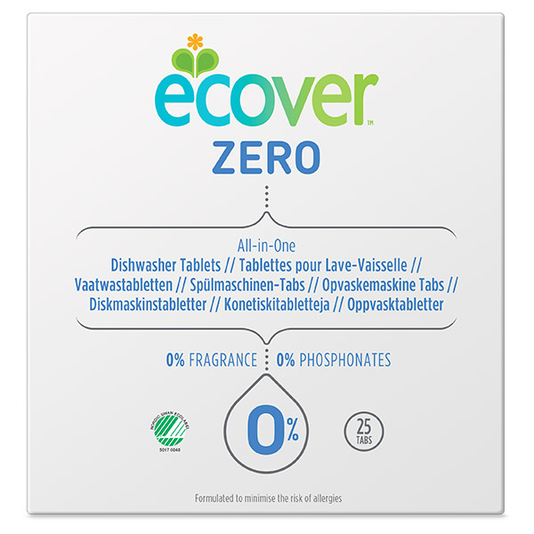 Tablettes lave-vaisselle 0%, Ecover (x 25, 500 g)