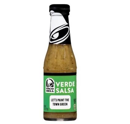 Sauce salsa verte, Taco Bell (213 ml)