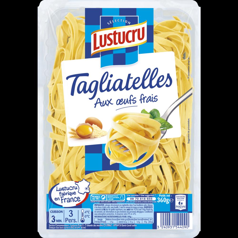 Tagliatelles aux oeufs frais, Lustucru (360 g)