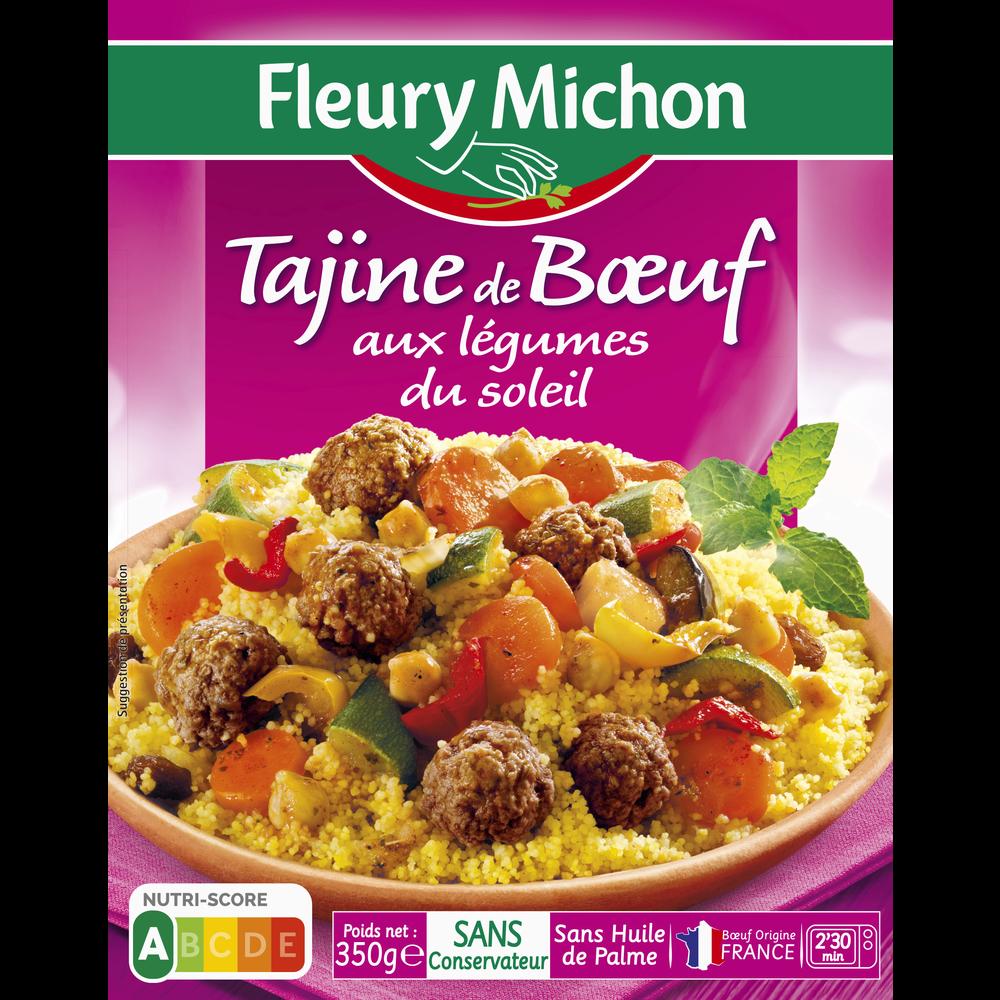 Tajine de boeuf légumes du soleil, Fleury Michon (350 g)