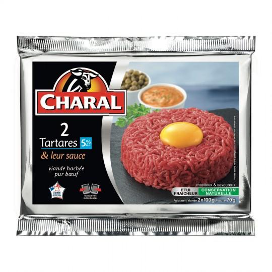 Tartares 5% + sauce, Charal (2 x 100 g)