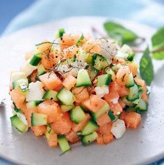 Kit Tartare de melon, feta, concombre, menthe