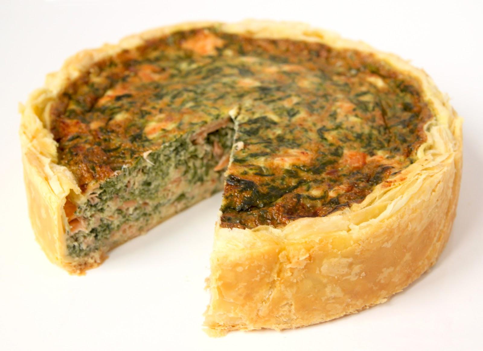 Grande Tarte Rachel's Cake : saumon fumé, épinard - 36h à l'avance