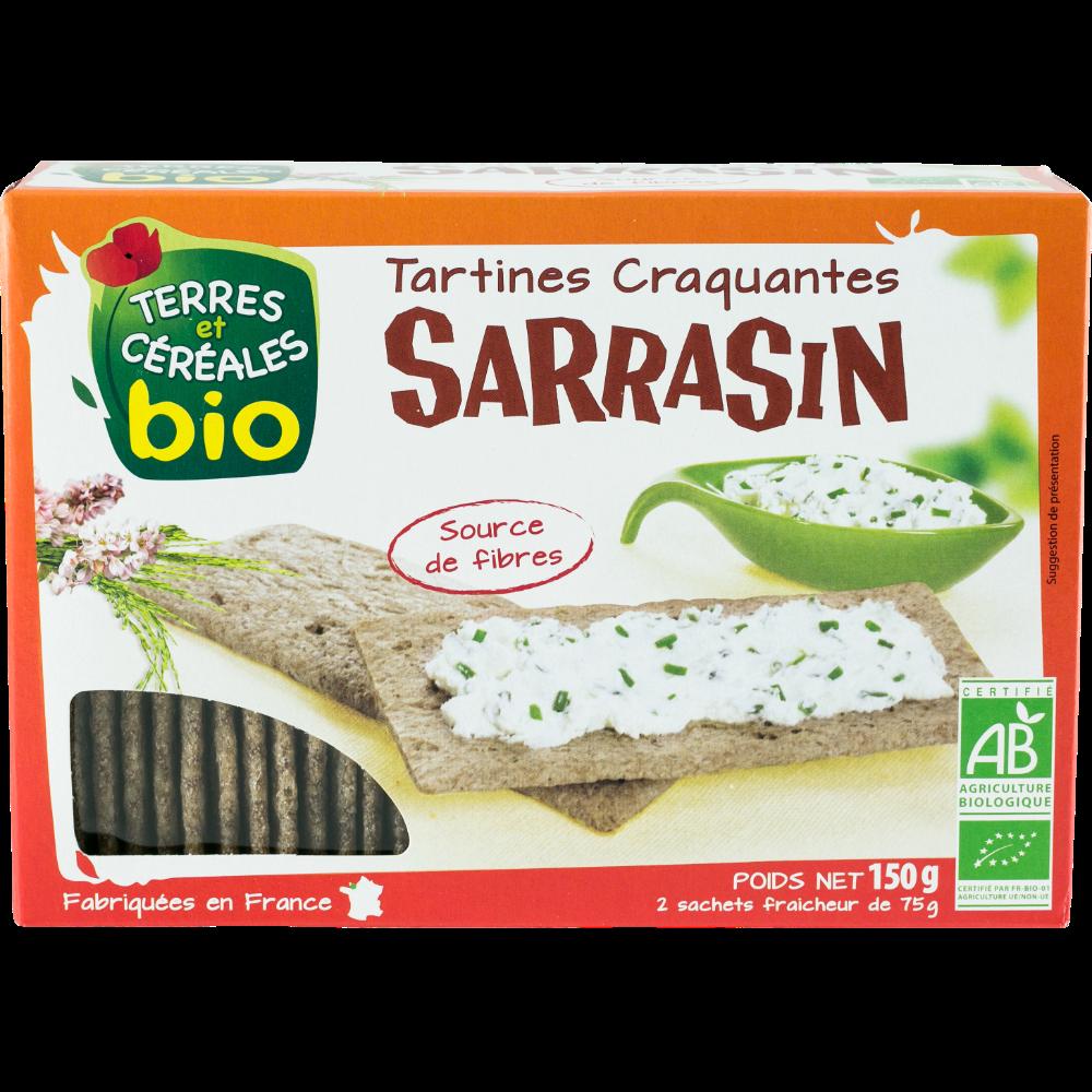 Tartines craquantes au sarrasin BIO, Terre & Céréales (150 g)