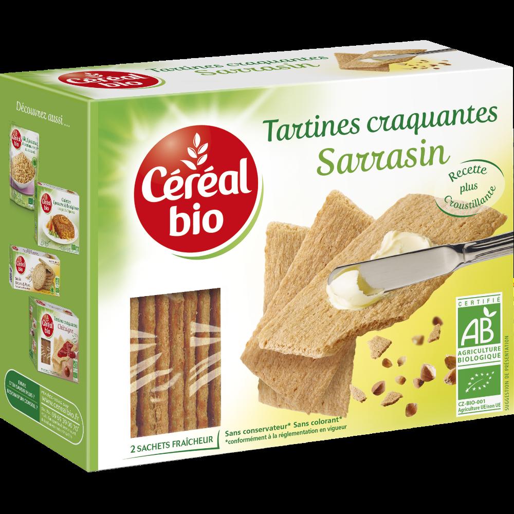 Tartines craquantes au sarrasin BIO, Céréal Bio (145 g)