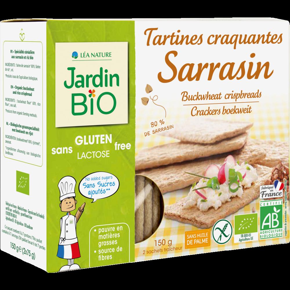 Tartines craquantes sarrasin sans gluten BIO, Jardin Bio (150 g)
