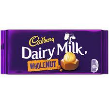 Dairy Milk aux noisettes, Cadbury (200 g)