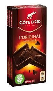 Chocolat noir l'Original, Côte d'Or (3 x 100 g)