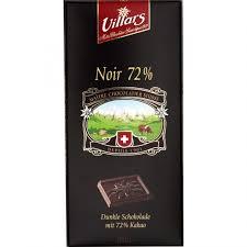 Chocolat noir 72%, Villars (100 g)