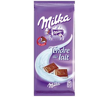 Chocolat tendre au lait Milka (2 x 100 g)