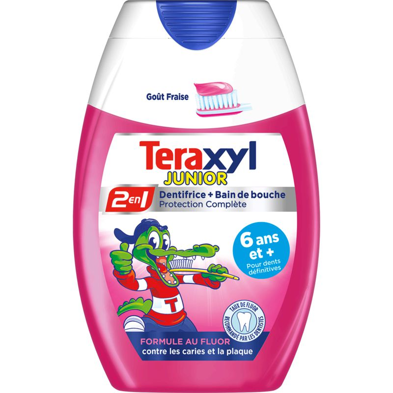 Dentifrice 2 en 1 Junior goût fraise, Teraxyl (75 ml)