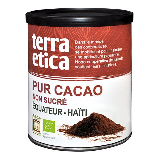 Pur cacao en poudre non sucré BIO, Terra Etica (200 g)
