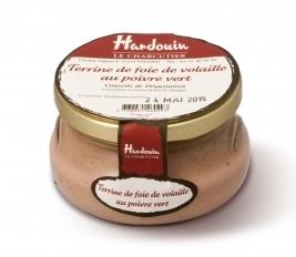 Terrine de foie de volaille au poivre vert, Hardouin (105 g)