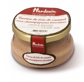 Terrine de foie de canard aux champignon, Hardouin (105 g)