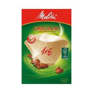 Filtres à café 1 x 6, Melitta (x 40)