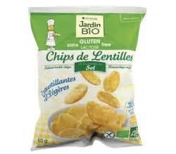 Chips de lentilles à la pointe de sel sans gluten BIO, Jardin Bio (50 g)
