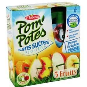 Pom'potes 5 fruits jaunes Sans sucres ajoutés, Materne (4 x 90 g)