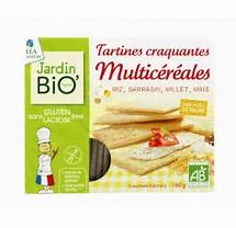 Tartines craquantes multicéréales sans gluten BIO, Jardin Bio (150 g)