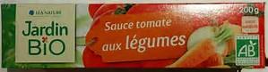 Sauce tomate aux légumes BIO, Jardin Bio (tube de 200 g)