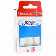 Bandes extensibles, Mercurochrome (x 3)