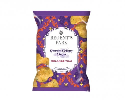 Chips au mélange thaï Queen Crispy, Regent's Park (40 g)