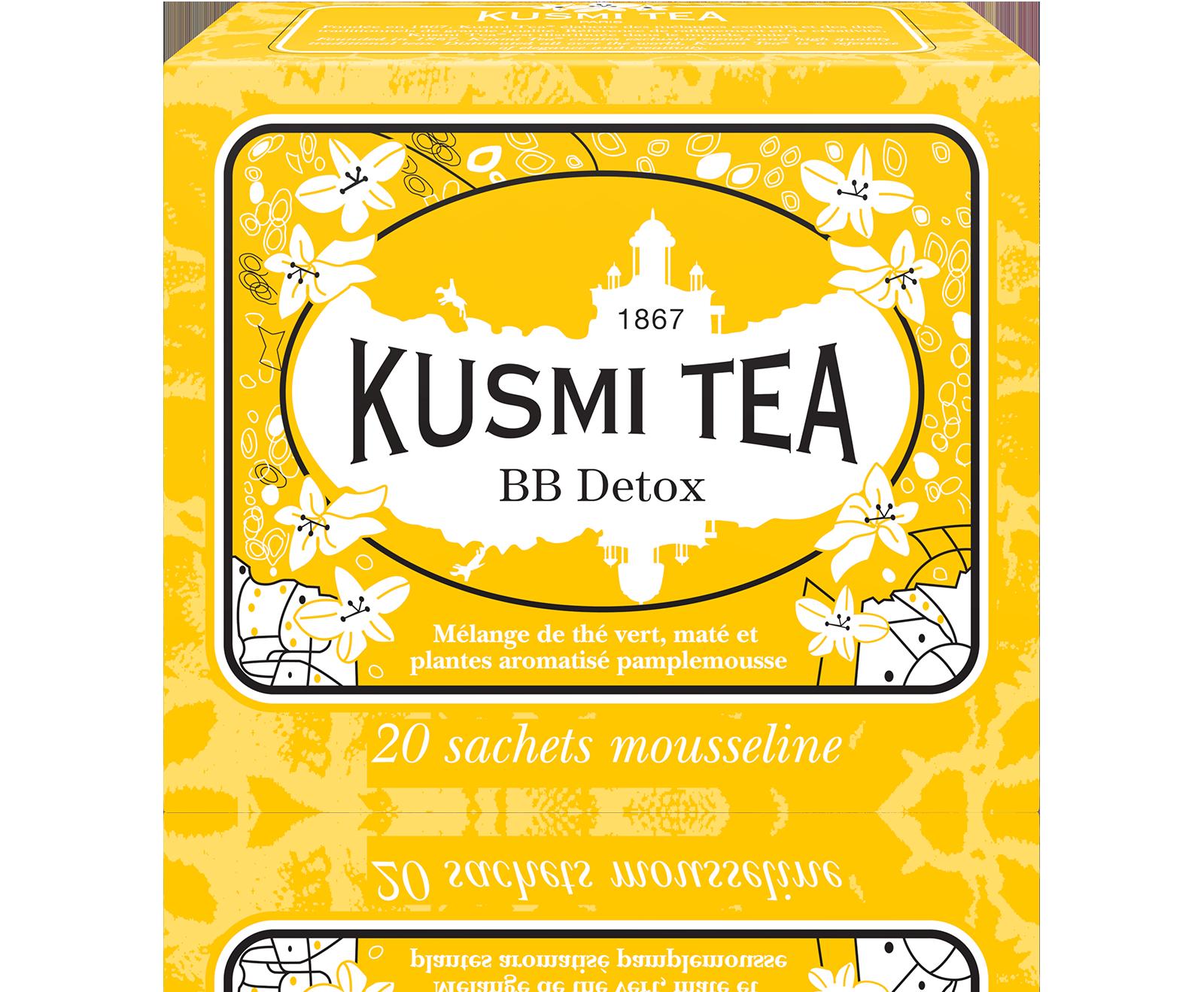 Thé BB Detox étui sachets mousseline, Kusmi Tea (x 20, 44 g)