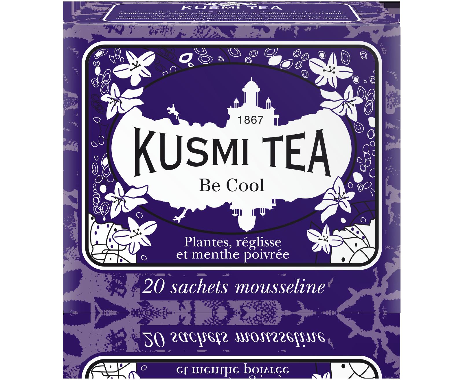 Thé Be Cool étui sachets mousseline, Kusmi Tea (x 20, 44 g)