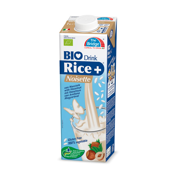 Boisson au riz saveur noisette BIO, The Bridge La Famiglia Organic (1 L)