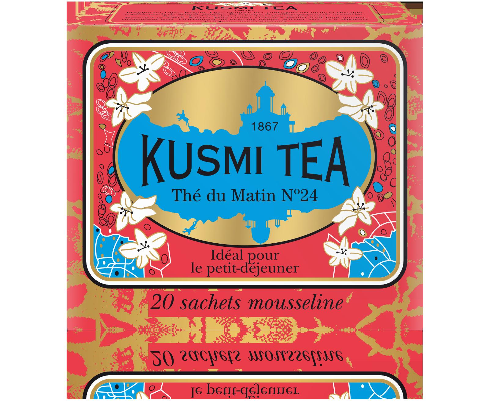 Thé du Matin N°24 étui sachets mousseline, Kusmi Tea (x 20, 44 g)