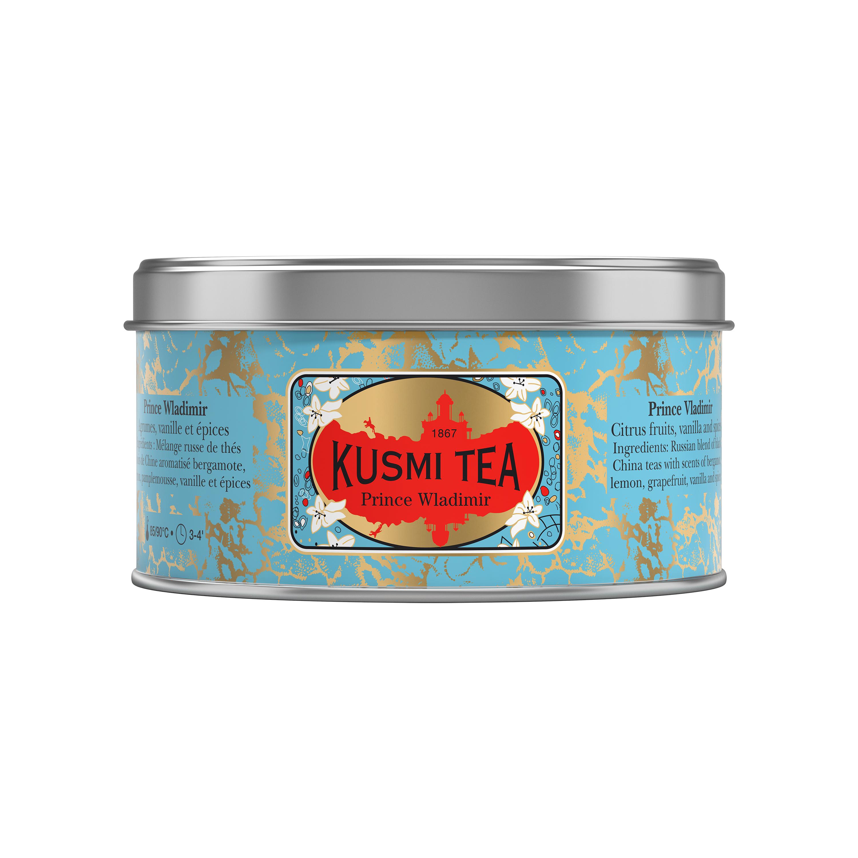 Thé Prince Vladimir boîte métal, Kusmi Tea (125 g)