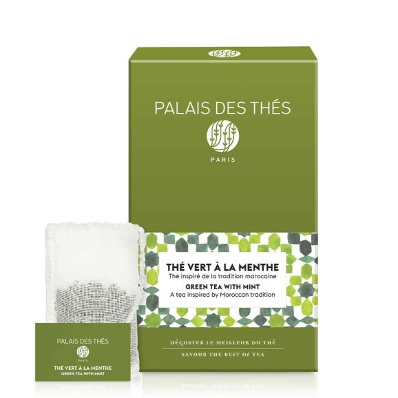 Thé vert à la menthe BIO, Palais des Thés (x 20)