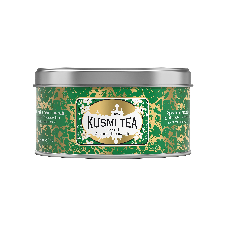 Thé vert à la menthe boîte métal, Kusmi Tea (125 g)
