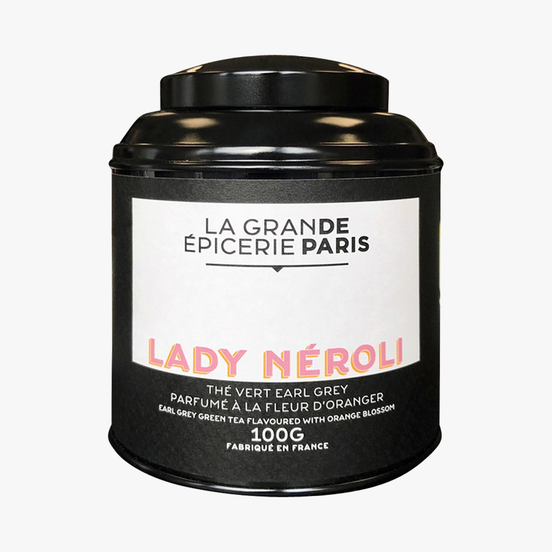 Thé Lady Néroli, thé vert Earl Grey à la fleur d'oranger, La Grande Epicerie de Paris (100 g)