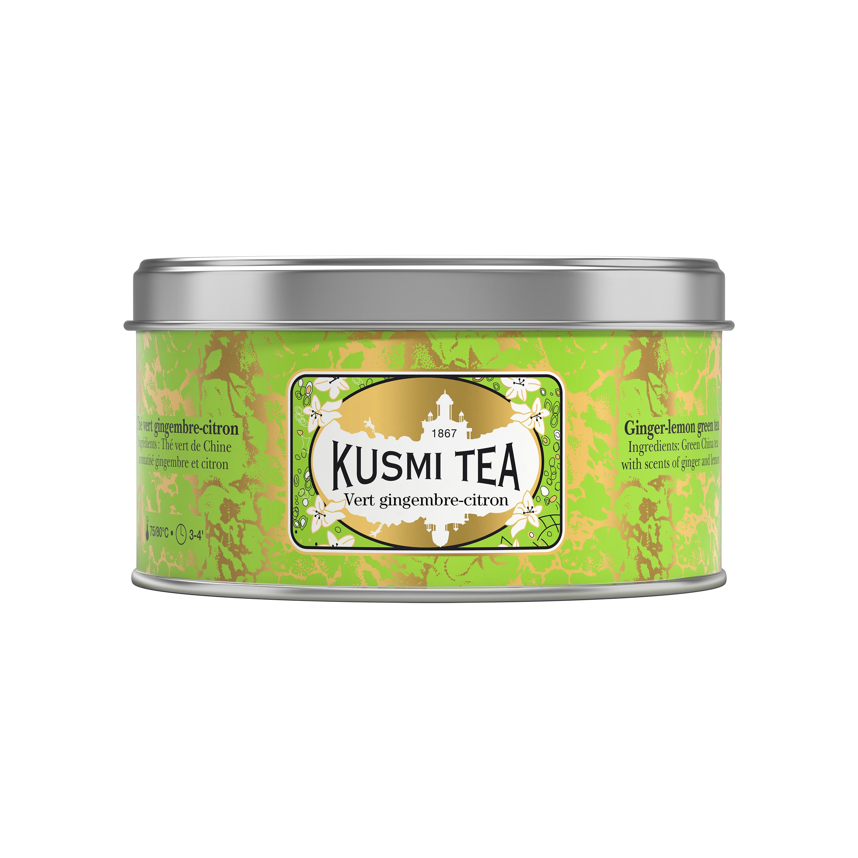 Thé vert gingembre-citron boîte métal, Kusmi Tea (125 g)