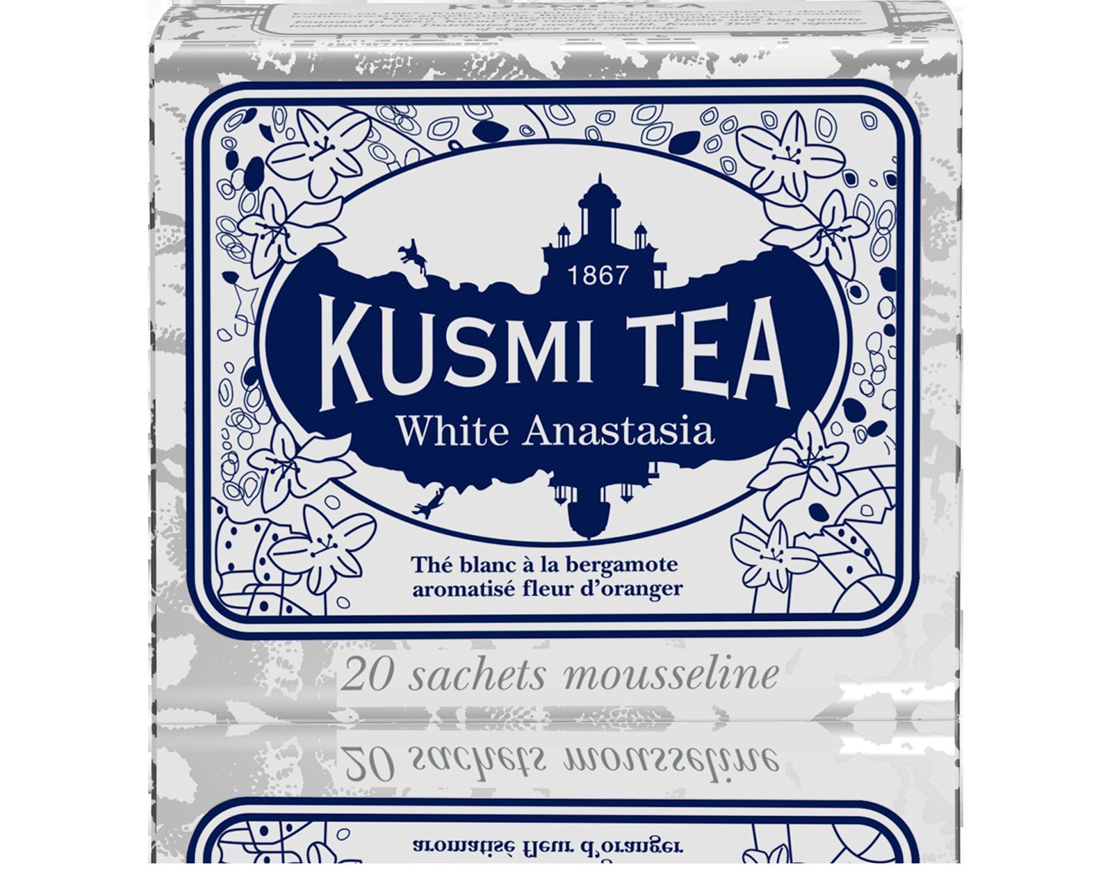 Thé White Anastasia étui sachets mousseline, Kusmi Tea (x 20, 40 g)