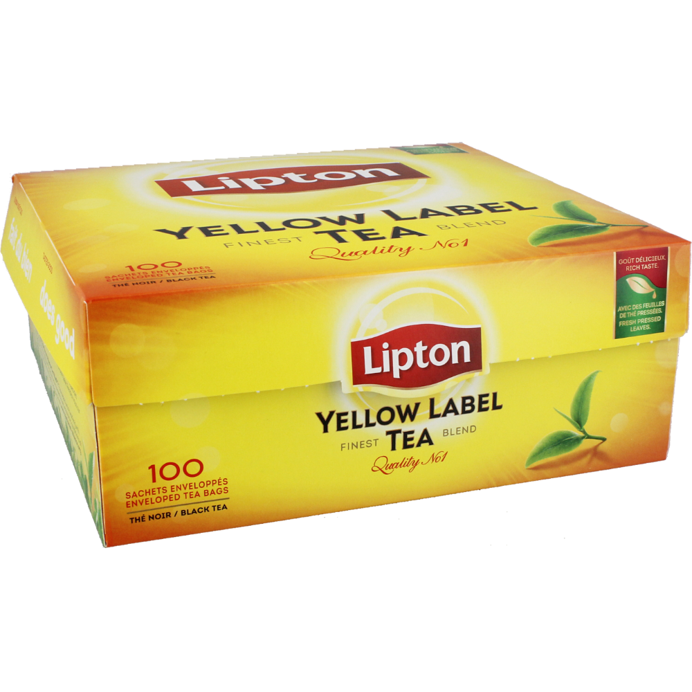 Thé Yellow Label, Lipton (100 sachets)