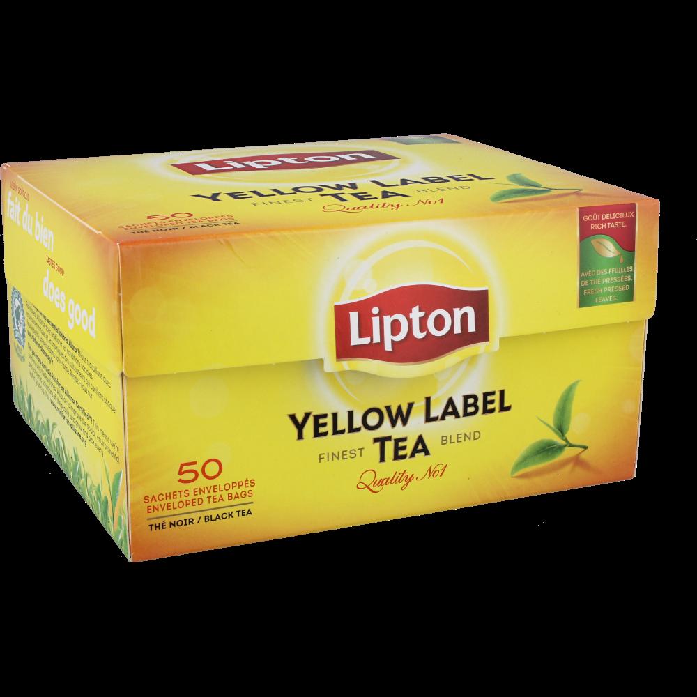 Thé Yellow Label, Lipton (50 sachets)