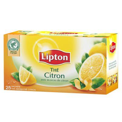 Thé citron Lipton (x 12, 25 sachets)