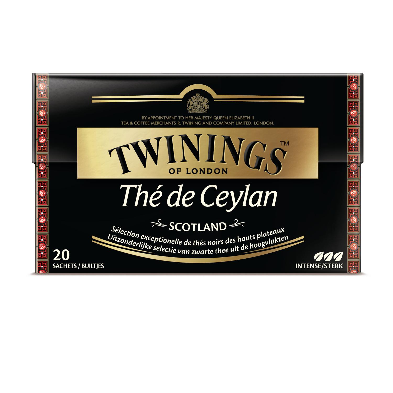 Thé de Ceylan Scotland, Twinings (20 sachets)